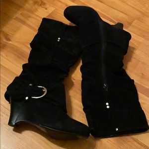 Qupid Faux Long Suede Boots